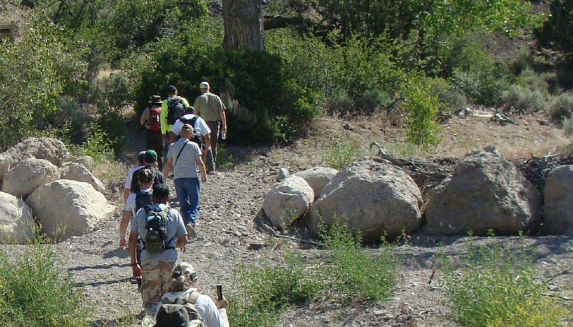hiking beaver dam